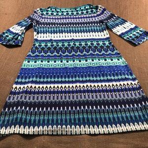 Donna Morgan boat neck dress Geometric  abstract